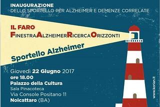Noicattaro. Sportello Alzheimer front