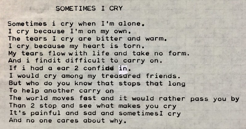 Sometimes I Cry - by Noah the Line Writer