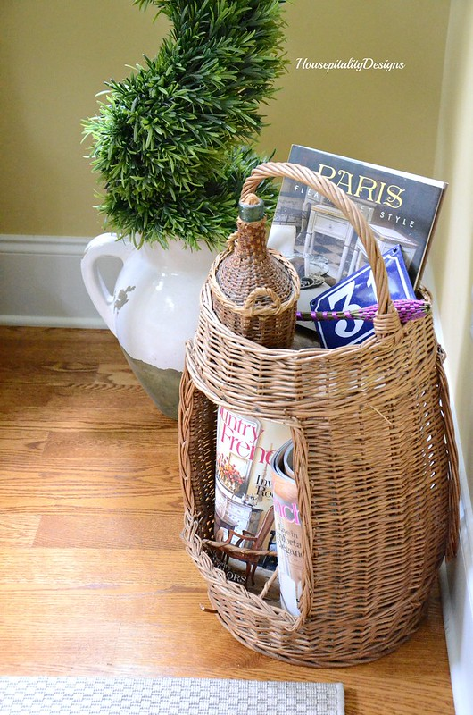 Antique French Wine Basket-Housepitality Designs