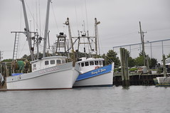 Commercial Fishing boats at the dock