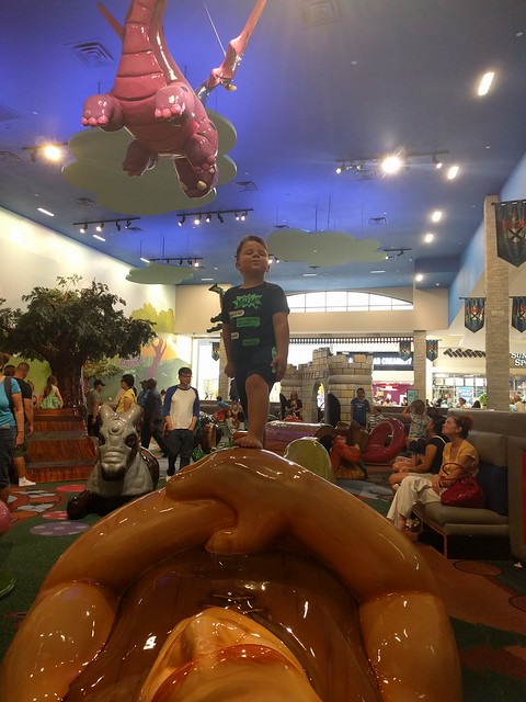 My nephew at Frolic's Castle