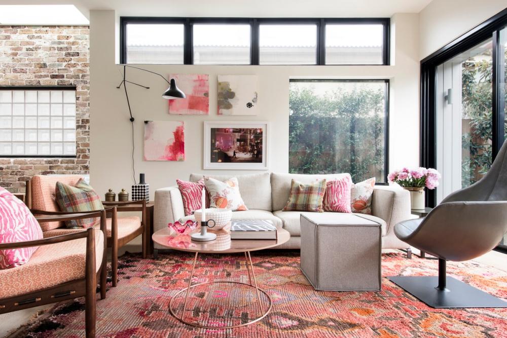 Pink and Feminine Suburban Loft