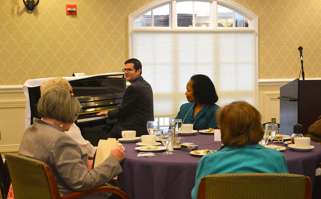 GenMtgMayLunch2017_0048; Dr. Gregory Geehern playing selections from Beethoven's opera