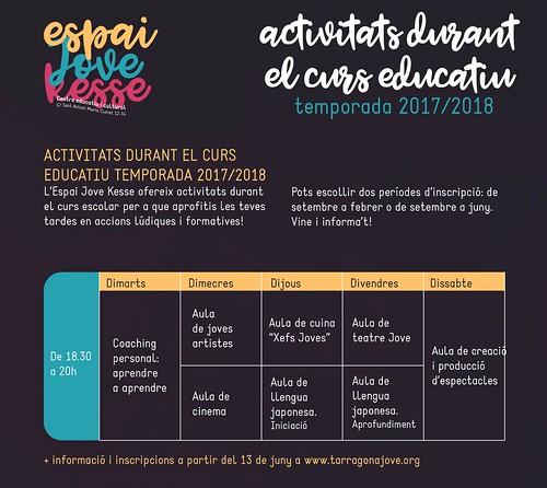 Activitats Curs Escolars 2017/2018