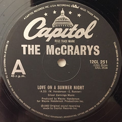 THE MCCRARYS:LOVE ME ON A SUMMER NIGHT(LABEL SIDE-A)