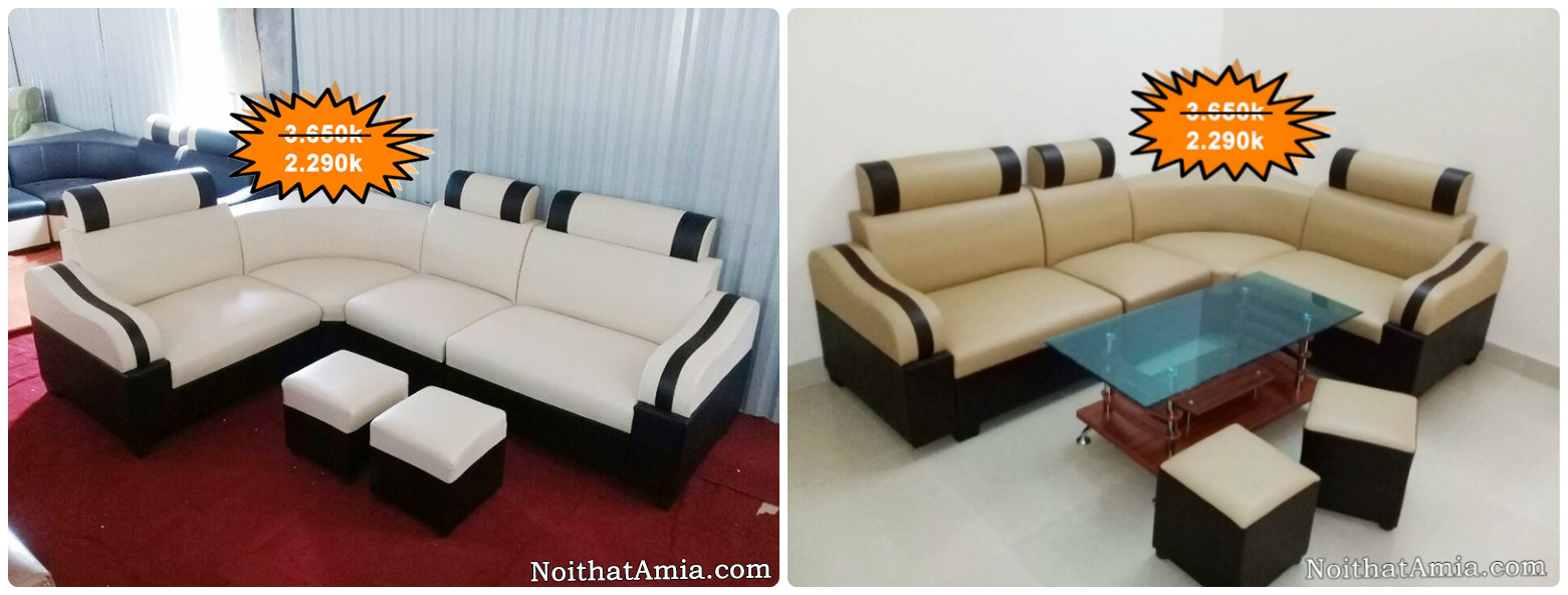 Mau sofa goc dep mau trang va mau ghi ke soc den AmiA SFD082 - 074