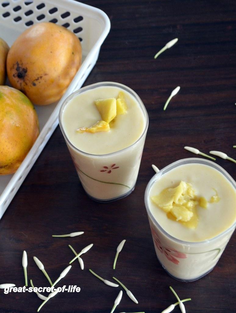 Mango Milkshake recipe - Simple Milkshake with Mango - Milkshake with condensed milk recipe - Summer recipes