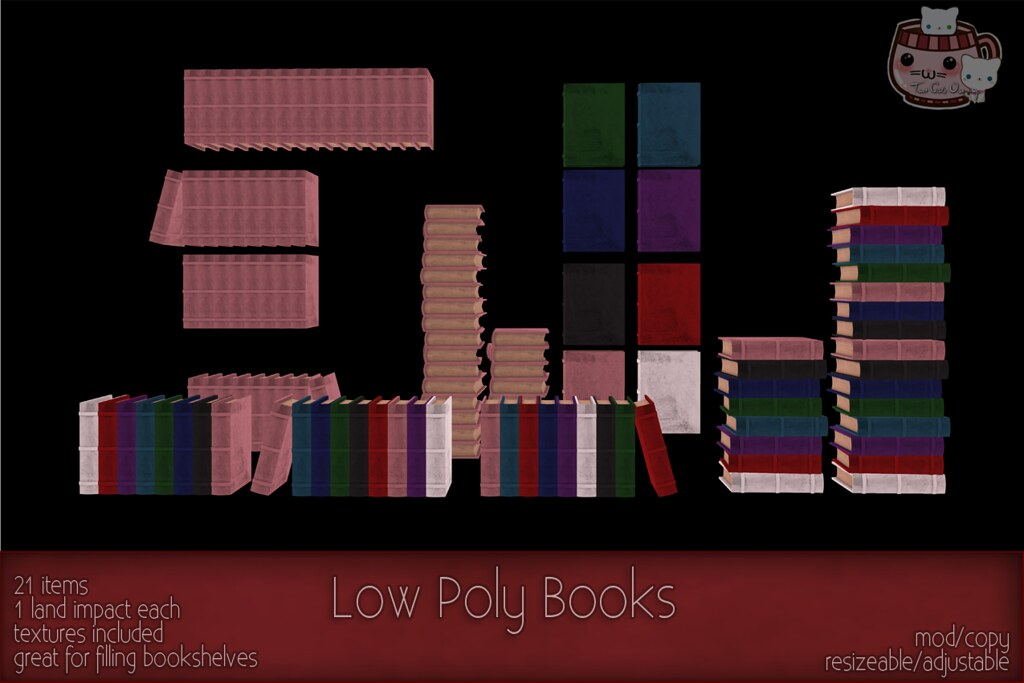 c( TC ) Low Poly Books