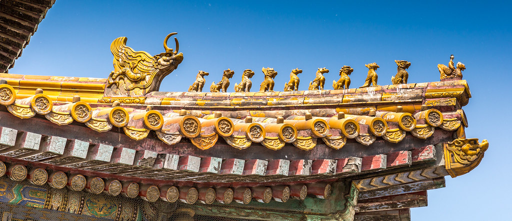 imperial roof chinese imperial roof decorations or roof ch flickr