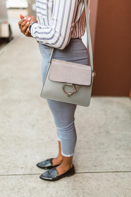 closet access handbag