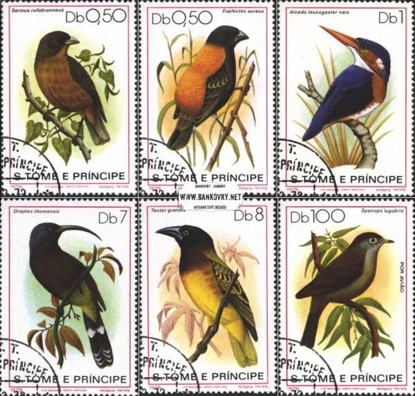 Známky Svätý Tomáš 1979 Vtáci, razítkovaná séria