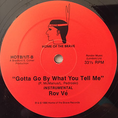 ROV VE:GOTTA GO BY WHAT YOU TELL ME(LABEL SIDE-B)