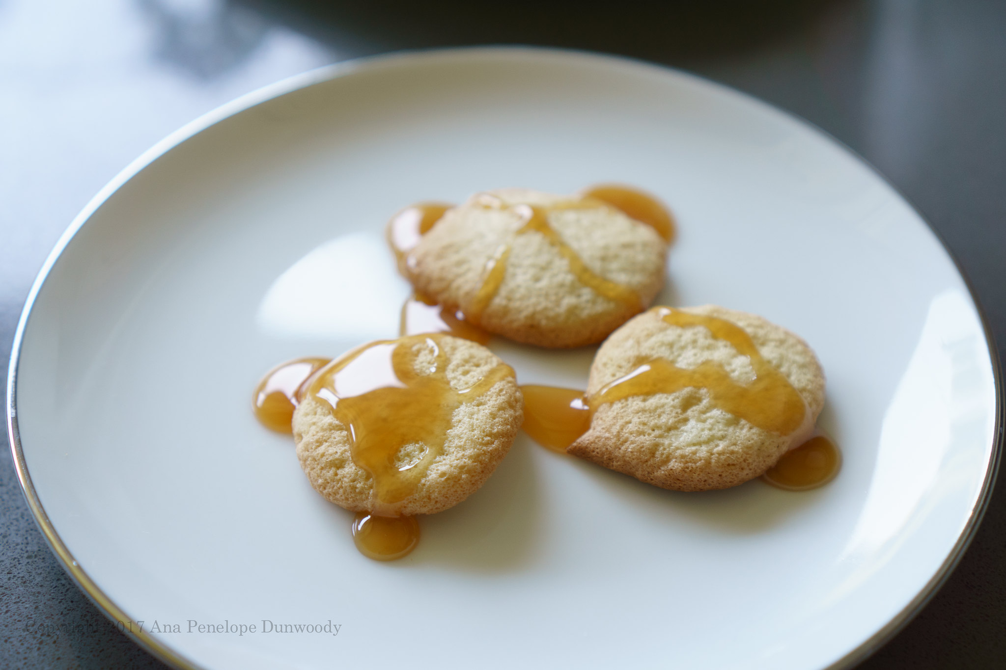 Sponge Drops with Caramel Sauce