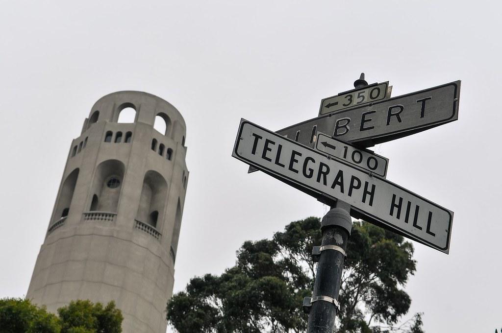 Coit Tower sur Telegraph Hill à San Francisco. Photo d'Aurélien Audy.