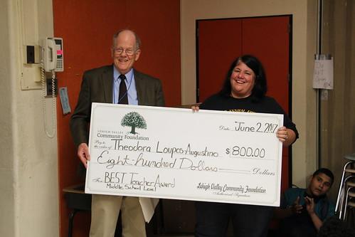 LVCF Honors Nitschmann Teacher Theodora Loupos-Augustino with a B.E.S.T Award