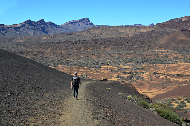 Walking in the crater, Teide National Park, Tenerife
