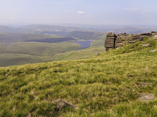 Looking down at Kinder Reservoir