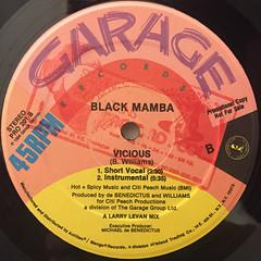 BLACK MAMBA:VICIOUS(LABEL SIDE-B)