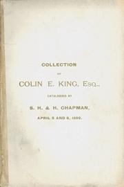 COLIN EDWARD KING (1862-1921)