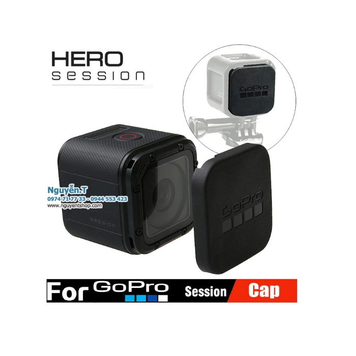 Cáp đậy bảo vệ ống kính GoPro session 5 có logo