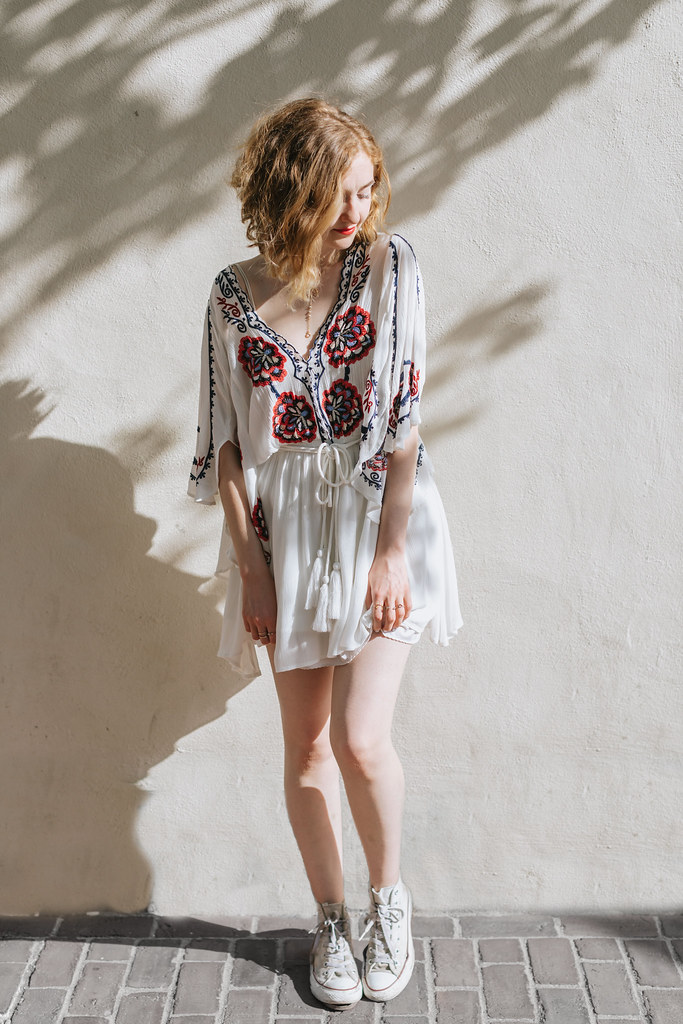 Fourth of July Free People Dress from Flock shot by Lena Mirisola on juliettelaura.com