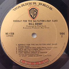 BILL COSBY:HOORAY FOR THE SALVATION ARMY BAND(LABEL SIDE-B)