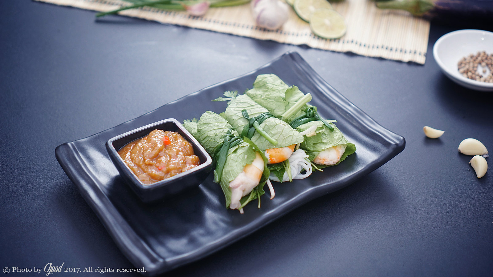 Shrimp and Pork Rolls with Mustard Leaves Recipe