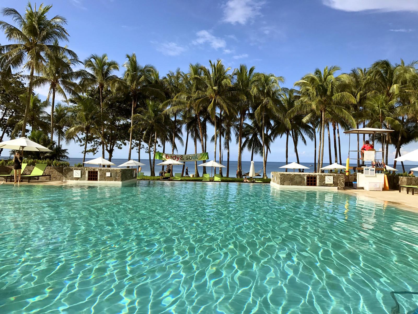 Main swimming pool in Club Med Bintan