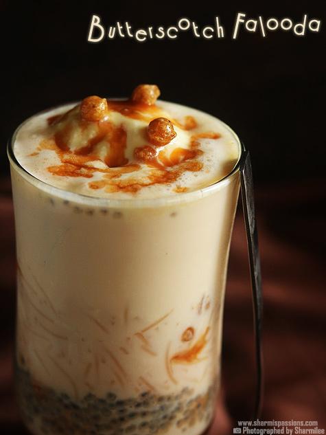 Butterscotch falooda recipe