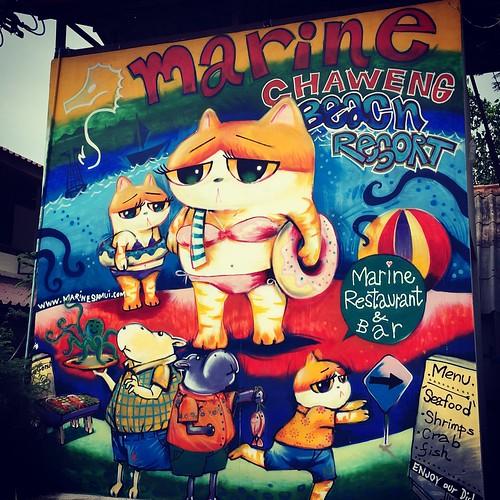 今日のサムイ島 6月21日 壁画アートだニャー