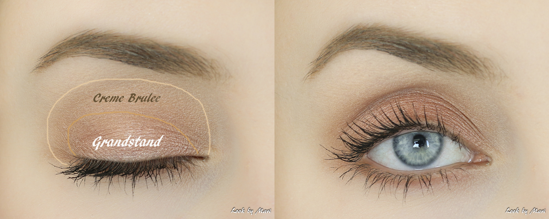4 makeup geek creme brulee grandstand swatches review