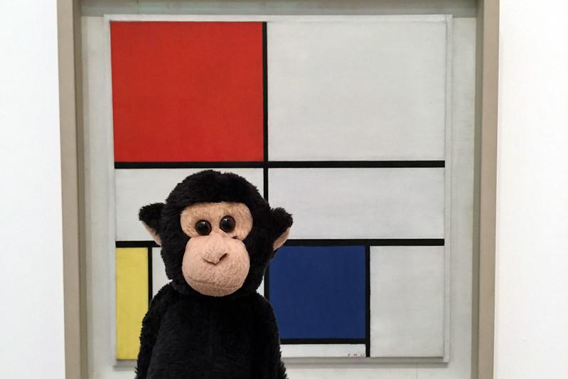 Monkey likes Mondrian