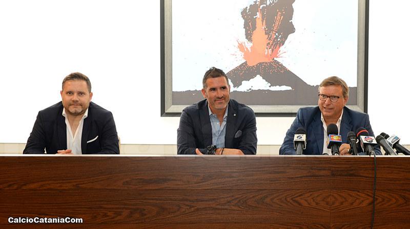 Da sx verso dx: Argurio, Lucarelli e Lo Monaco