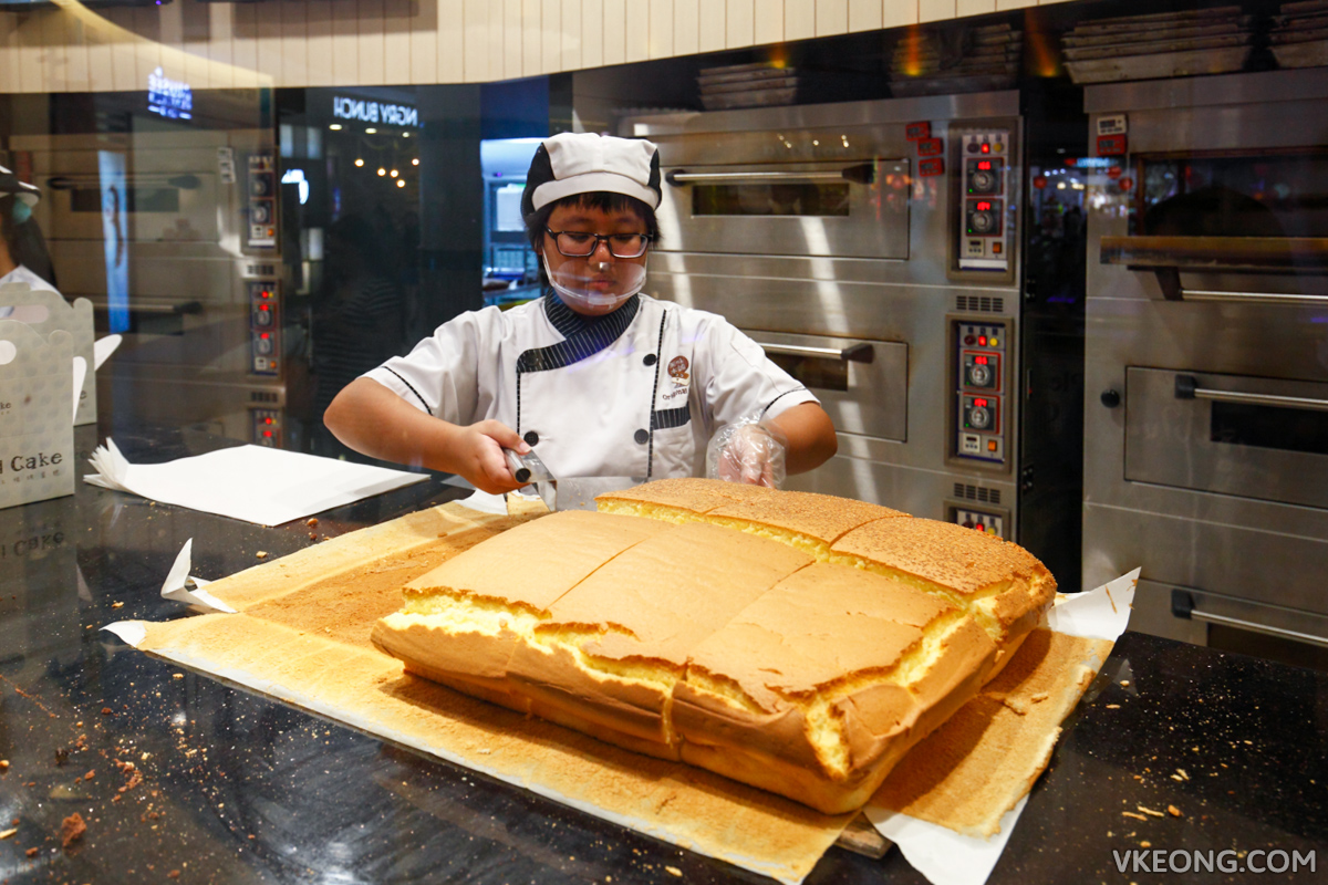 Taiwan Original Cake Sunway Pyramid Slicing Cake