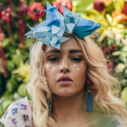 Origami Floral Headpiece by Papel
