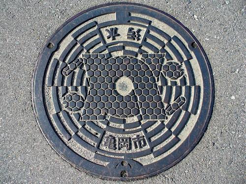 Kameoka Kyoto, manhole cover 3 (京都府亀岡市のマンホール3)