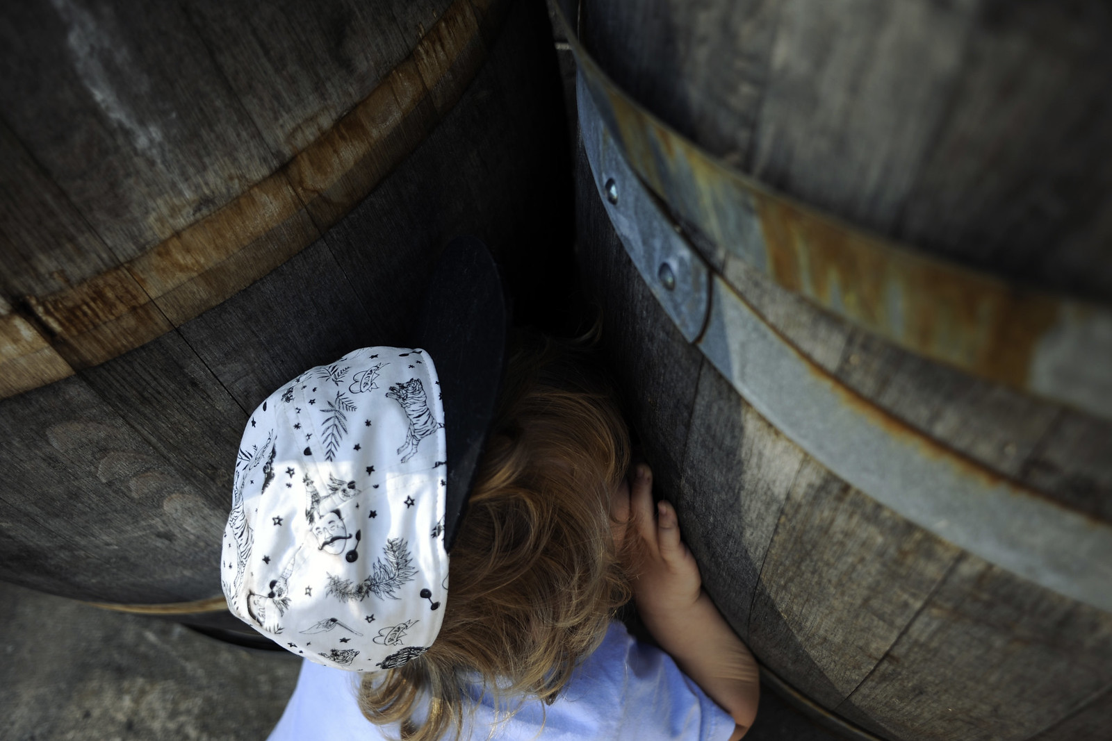 Peeking in the barrel hole