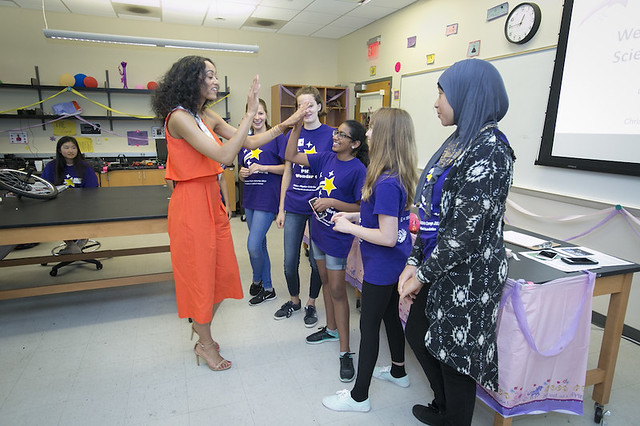 Miss USA Visits USciences Girls Physics Camp