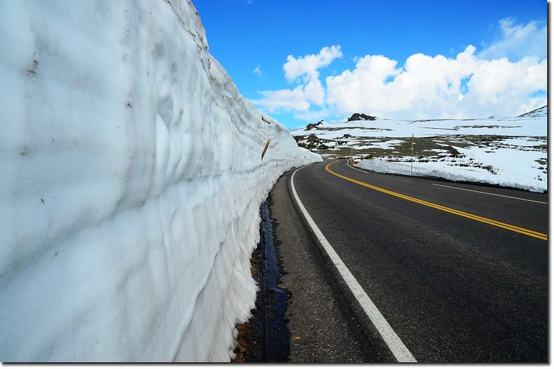 Snow wall along Trail Ridge Road 6