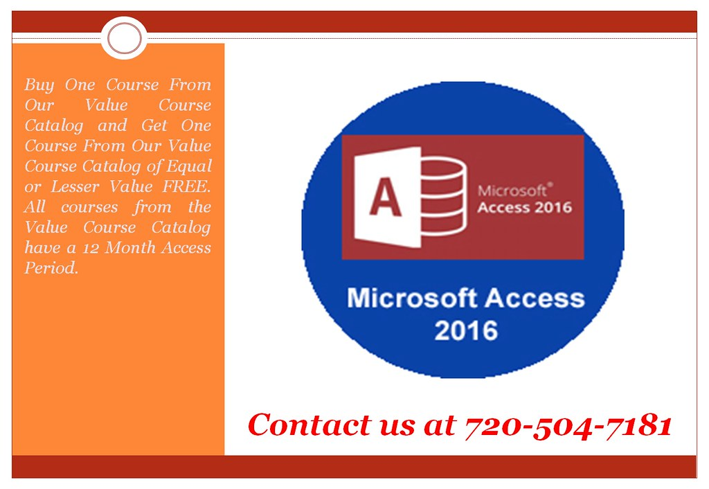 Microsoft Access 2016 Online Training Online Certifica Flickr