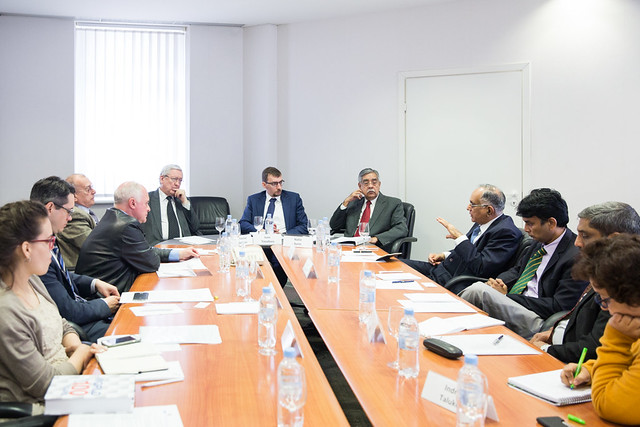 A Meeting with the Delegation of Leading Indian Think Tanks