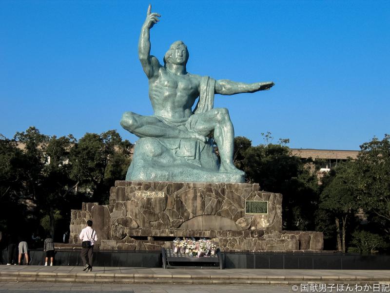 長崎・平和祈念像(撮影:筆者)