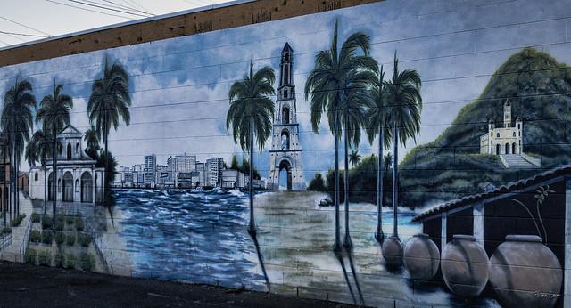 Florida Restaurant mural