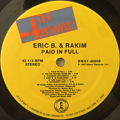 ERIC B. & RAKIM:PAID IN FULL(LABEL SIDE-B)