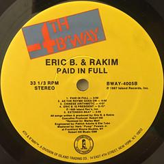 ERIC B. & RAKIM:PAID IN FULL(LABEL SIDE-B)