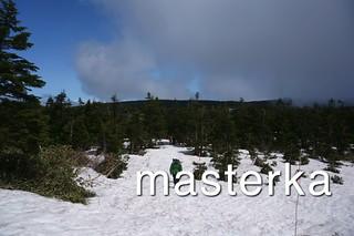 雪で行き止まりの八幡平