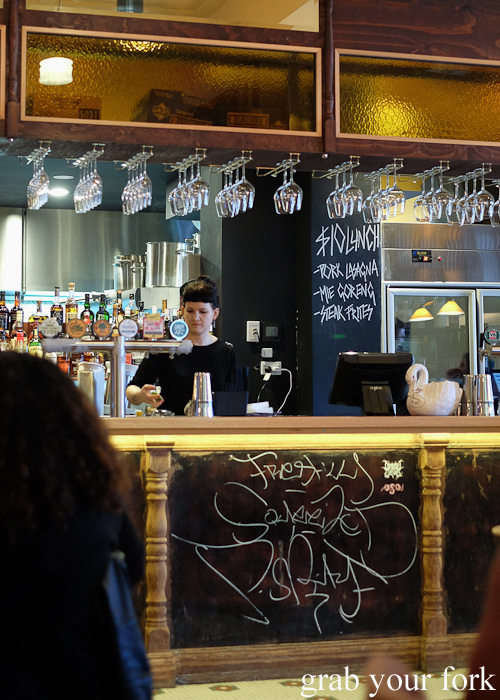 Bar with $10 specials at the Lansdowne Hotel in Chippendale Sydney