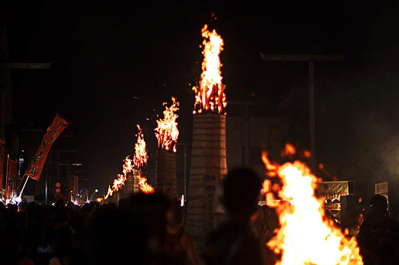 富士吉田 吉田の火祭り