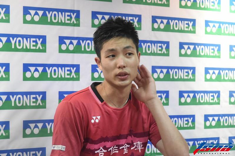 周天成止步亞洲羽球錦標賽8強。(資料照,鍾亞芳/攝)