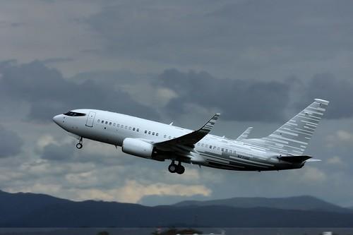 N2708E , Boeing 737-7LT BBJ , LFSB
